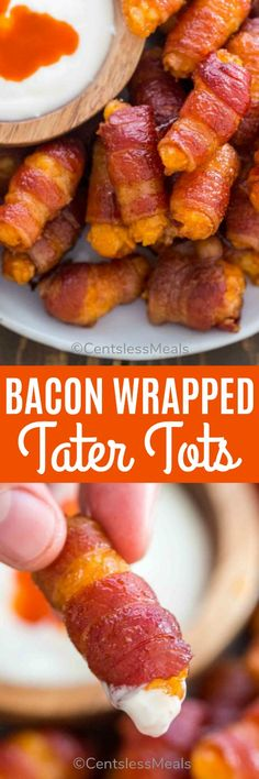 32 Ideas Appetizers Easy Finger Food Party Snacks Simple Bacon Wrapped For 2019 Appetizers For Kids, Bite Size Appetizers, Bacon Appetizers, Finger Food Appetizers, Healthy Appetizers, Finger Foods, Appetizer Recipes, Party Appetizers, Bacon Wrapped Tater Tots
