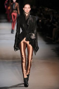Haider Ackermann brings  futuristic luxe in the pieces, loveee
