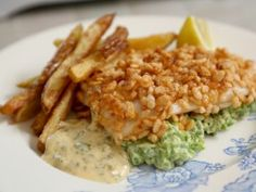 Snap, Crackle and Pop Fish with Mint Mushy Peas from CookingChannelTV.com | Rachel Khoo - London