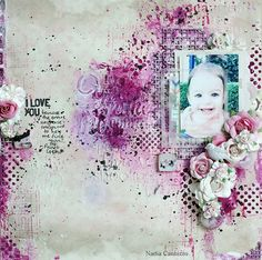 Love the textures on this - could die cut title & use negative as a stencil with texture paste for the background.