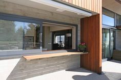 Servery window - sliding with separate server to inside Central Otago Home an Architectural Response to Location - EBOSS