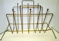 Atomic Balls Magazine LP Record Rack Retro Brass Gold Metal Wire Vintage Stand.  FOUND, Goodwill, Irmo, SC $1.75  Yes! 5/2014