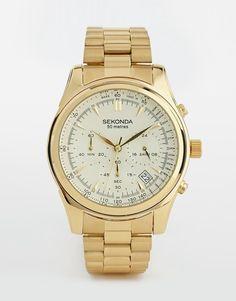 Sekonda Watch In Gold Stainless Steel 1019