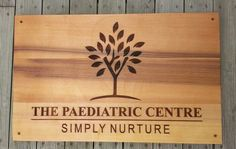 Feature sign Western red cedar 600 x 400 mm Laser engraved MyChoice@Firebridge