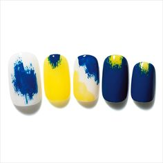 nail blue yellow