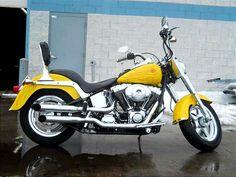 Nice Yellow Harley !