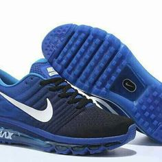 the latest 30caa dfa8b Nike Airmax 2017 Blue Running Shoes - The Nike Air Max 2017 Blue Mens  Running Shoe is built with an Engineered Mesh base that appears to sit atop  the same ...