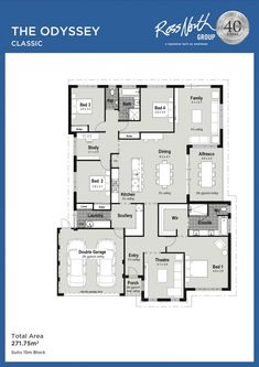 The Odyssey – Ross North Homes Duplex Floor Plans, Bungalow Floor Plans, Modern House Floor Plans, New House Plans, Dream House Plans, Small House Plans, Small House Decorating, Decorating Tips, 4 Bedroom House Plans