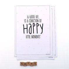 Poster te koop in de webshop: A good life is a collection of happy little moments.
