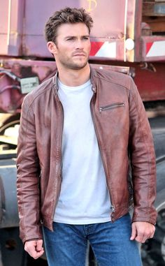 Scott Eastwood Fast 8 Brown Leather Jacket is made from distressed brown leather material. If you care about the durability of your leather jacket, this is the jacket you require. It goes well with most of the outfits in your wardrobe. Brown Leather Jacket Men, Leather Jackets For Sale, Leather Men, Scott Eastwood Fast 8, Clint Eastwood, Scott Eastwood Wife, Attractive Men, My Guy, Models