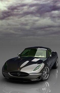 ♂ #Grey car #Jaguar E-Type #Retro
