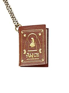 Disney Alice In Wonderland Book Necklace,