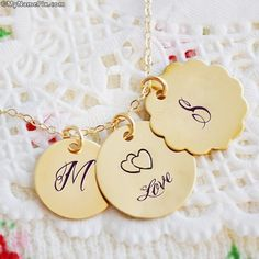 Get your name in beautiful style on Golden Initial Heart Necklace picture. - Get your name in beautiful style on Golden Initial Heart Necklace picture. You can write your name -