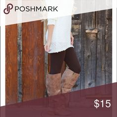 Coffee Colored Fleece Lined leggings Best sellers Coffee colored  leggings essential for your fall winter wardrobe one size Fits all size small through XL . Great with long tunics and sweaters Vivacouture Pants Leggings