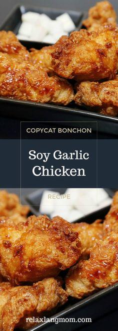 Bonchon Soy Garlic Chicken Recipe -Relaxlangmom Filipino Food Blog