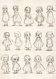 Little girls character sketches, character drawing, character design refere Character Design Cartoon, Kid Character, Character Design References, Character Drawing, Character Design Inspiration, Character Illustration, Character Sketches, Illustration Sketches, Art Illustrations