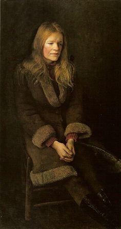 """""""Sheepskin"""", 1973, Andrew Wyeth."""