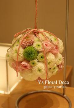 和装のボールブーケ ys floral deco @コンラッド東京