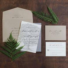 Oak Tree Wedding Invitation vellum wedding invitation tree