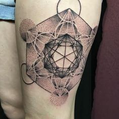 Metatron's cube by Kevin Seawell at Urban Element Tattoo in Denver Co