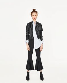 BIKER JACKET WITH ZIPS-JACKETS-WOMAN-SALE | ZARA Indonesia