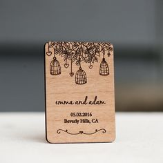 10 Rustic Birdcage Save the Date Magnets by StylineDesigns