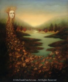 Alla Tsank. Lovely work. Had to start a board of artists I find, just to remember her work.