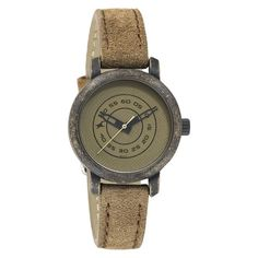 Fastrack Brass Dial Analog Watch For Women-6085KL01
