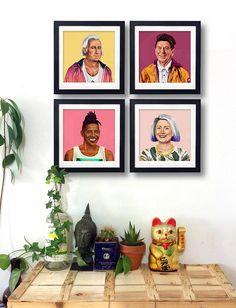 Art of the console /Amit Shimoni  turns Obama, the Dalai lama and more into hipsters