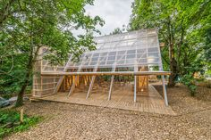Osthang Project, Main Hall by Atelier Bow-Wow Off Grid, Fab Lab, Timber Architecture, Public Architecture, Arched Cabin, Bali Blinds, Temporary Structures, Outside Room, Pergola Pictures