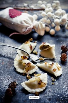 Pierogi - mushroom & kapusta or cabbage