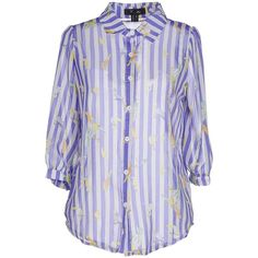 Cutie Shirt ($55) ❤ liked on Polyvore featuring tops, purple, shirt top, purple shirt and purple top