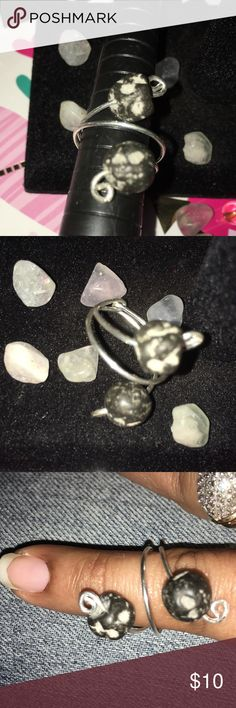 .925 sterling silver Lava Ring This ring is made of .925 sterling silver and is adjustable and will fit ring sizes 4 & 5. Lava stones have a great connection to Mother Earth grounding us, it is a great stone to dissolve negativity and awesome for dream work. Lava stones are also known for their calming effects. I will have a bracelet and earrings coming soon to match. Thanks for stopping by 😊 Love Goddess Jewelry Rings