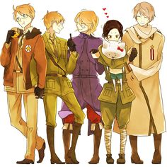 Allies - イセザキ - Hetalia - America / England / France / China / Russia<--- just wow... They forgot Canada.... That is perfect XD