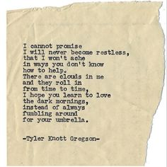 Typewriter series #1015 by Tyler Knott Gregson