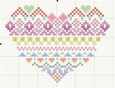 Pastel Heart Sampler - Small amounts of floss are needed, so it's good for leftover thread. (Free pattern by Embroiderbee)