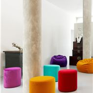 Rainbow stools from The Velvet Lab