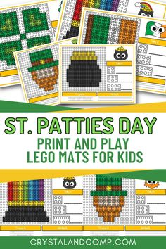 These simple lego ideas are perfect for preschoolers, kindergartners and even first and second graders. There are ten different St. Patricks Day inspired build ideas in the pack!
