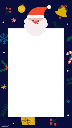 Rectangle Santa Christmas frame mobile wallpaper v Christmas Flyer, Pre Christmas, Christmas Poster, Christmas Frames, Christmas Mood, Christmas Snowman, Christmas And New Year, All Things Christmas, Xmas