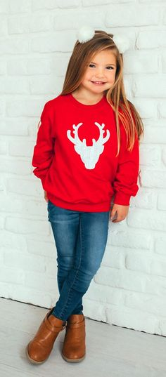 Cable Knit Reindeer Pullover for your little dear! www.brickyardbuffalo.com