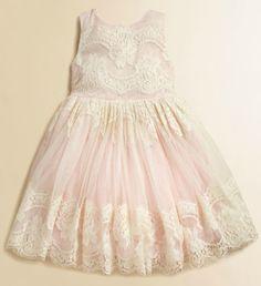 Dolce & Gabbana Toddler's & Little Girl's Party Dress in Light Cream (0407489799447)