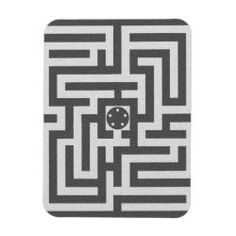MAZE rectangular magnet black on white Legend Symbol, Detail Shop, Sacred Geometry, Maze, Gender Neutral, Magnets, Things To Come, Black And White, Future