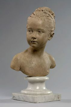 Portrait de Louise Brongniart, de Jean-Antoine HOUDON. Département des Sculptures / Department of Sculptures. © Musée du Louvre, dist. RMN - Grand Palais / Pierre Philibert. Français http://www.louvre.fr/oeuvre-notices/louise-1772-1845-et-alexandre-brongniart-1770-1847 - English http://www.louvre.fr/en/oeuvre-notices/louise-1772-1845-and-alexandre-brongniart-1770-1847