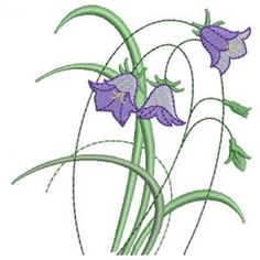 Bluebells Combo | Machine Embroidery Designs