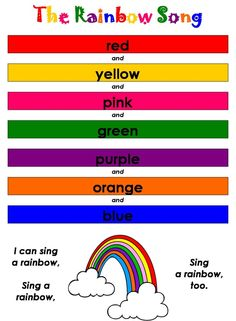 The Rainbow Song Is A Great Way To Practice Colors With Your Toddler http://www.teachmy.com/teach-my-toddler-colors-usa @Teach My    www.teachmy.com