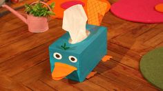 Perry The Platypus Tissue Box