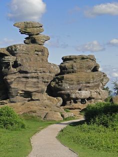 Photo by me. Brimham Rocks, Summerbridge, Harrogate, North Yorkshire, England | Brimham Rocks are balancing rock formations on Brimham Moor in North Yorkshire, England