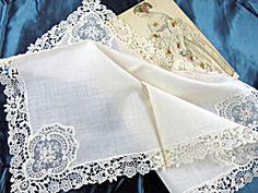 Beautiful antique Hankie BRIDAL WEDDING HANDKERCHIEF