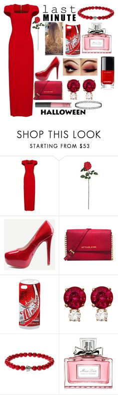 """""""Last Minute Costume: The Bachelorette!"""" by sisibff ❤ liked on Polyvore featuring Antonio Berardi, Nearly Natural, Michael Kors, Moschino, Jemma Wynne and Christian Dior"""