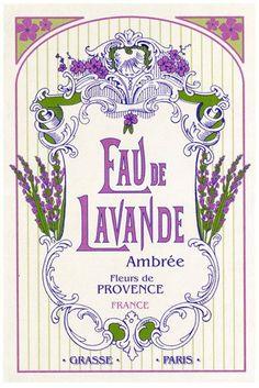 Where to buy French Kitchen Tea Towel Provence Lavender - Torchons et Bouchons Celebrates Provence Lavender, lavender water Grasse, Paris and Provence Vintage Diy, Pub Vintage, Images Vintage, Vintage Labels, Vintage Ephemera, Vintage Cards, Vintage Posters, Lavender Cottage, Lavender Blue